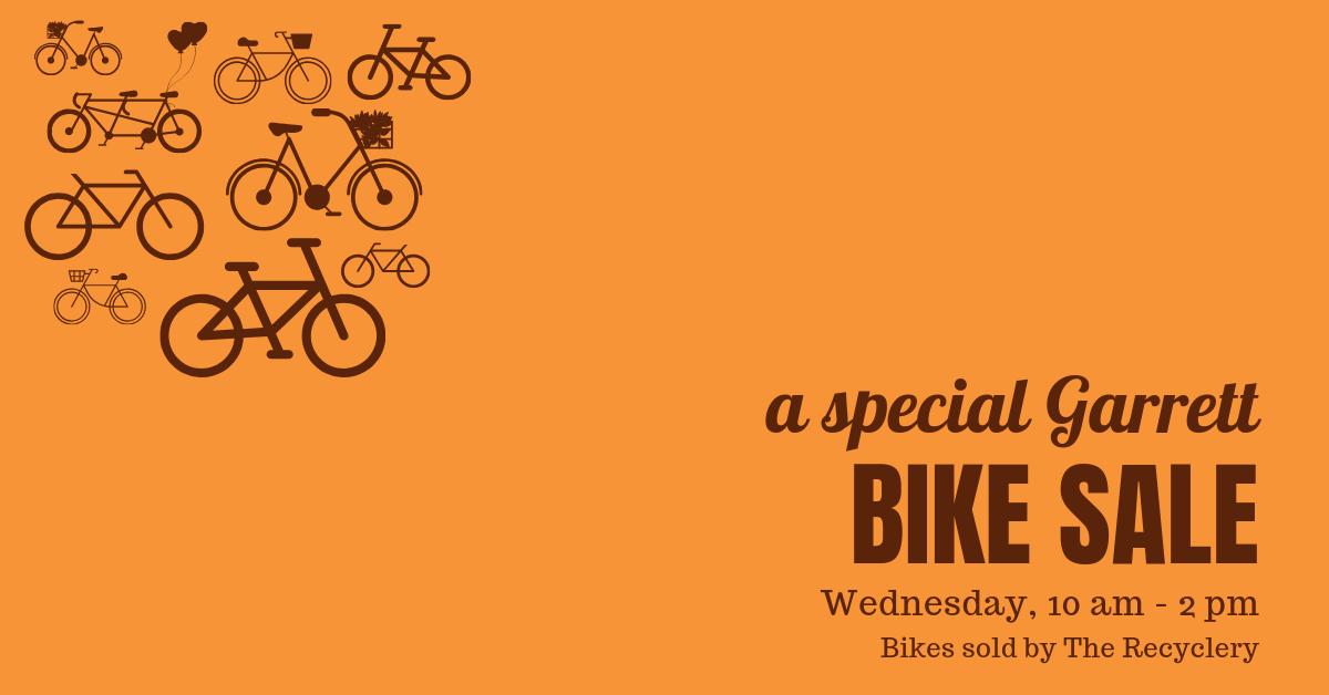 Garrett Bike Sale